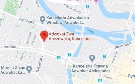kancelaria adwokacka wroclaw Anczewska i Punko mapa